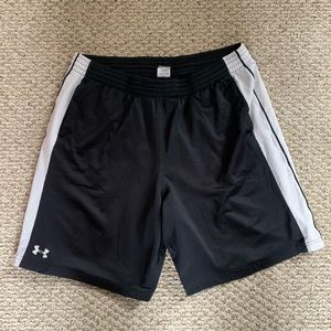Under Armour Black and White Athletic Shorts XXL